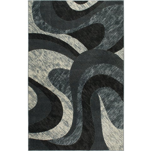 "Home Dynamix Catalina Collection Gray Machine Made Polypropylene Area Rug - 5'3"" x 7'2"""