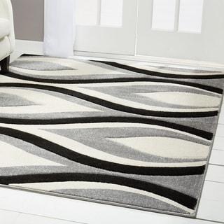 """Home Dynamix Sumatra Collection Contemporary Dark Brown Area Rug (5'2"""" x 7'2"""")"""