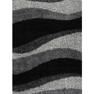 Home Dynamix Synergy Collection Black-Grey (7'8 x 10'4) Polypropylene Machine Made Area Rug