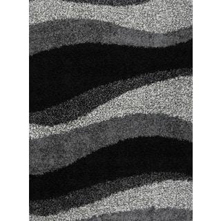 Home Dynamix Synergy Collection Black-Grey (7'8 x 10'4) Polypropylene Machine Made Area Rug