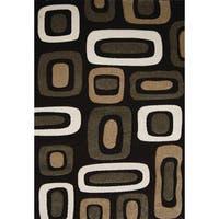 """Home Dynamix Sumatra Collection Contemporary Dark Brown Area Rug - 7'10"""" x 10'2"""""""