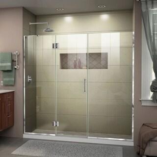 DreamLine Unidoor-X 63 1/2-64 in. W x 72 in. H Frameless Hinged Shower Door