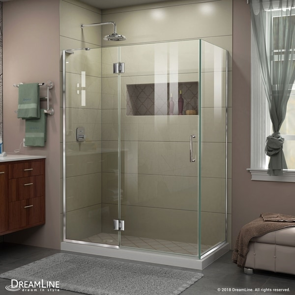 DreamLine Unidoor-X 48 3/8 in. W x 30 in. D x 72 in. H Frameless Hinged Shower Enclosure