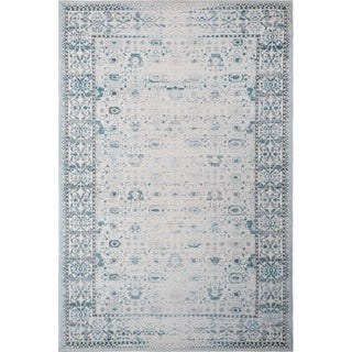 Home Dynamix Sunderland Collection Distressed Ivory (7'10 x 10'2) Machine Made Polypropylene Area Rug