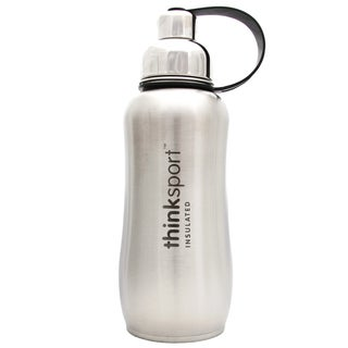 ThinkSport 25-ounce Silver Insulated Sports Bottle