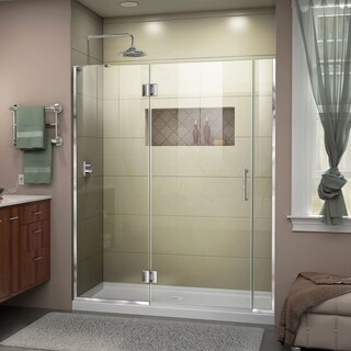 DreamLine Unidoor-X 56 1/2-57 in. W x 72 in. H Frameless Hinged Shower Door