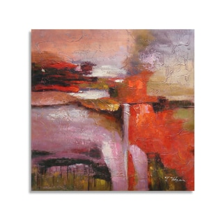 Dancing of Colors Abstract Oil Painting with Warm Colors Wall Art