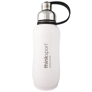 ThinkSport 25-ounce White Insulated Bottle