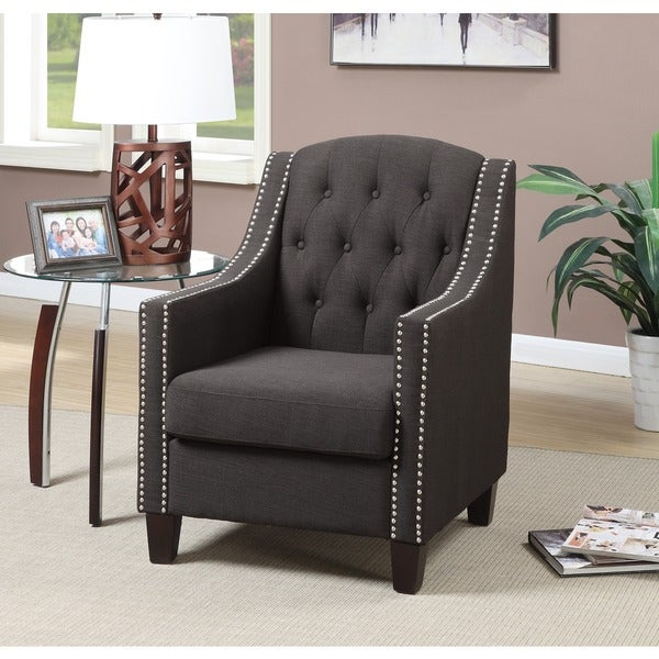 Shop Beverly Tufted Nailhead Trim Accent Arm Chair Free