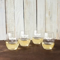 Bee Thankful 21oz Stemless Wine Glasses