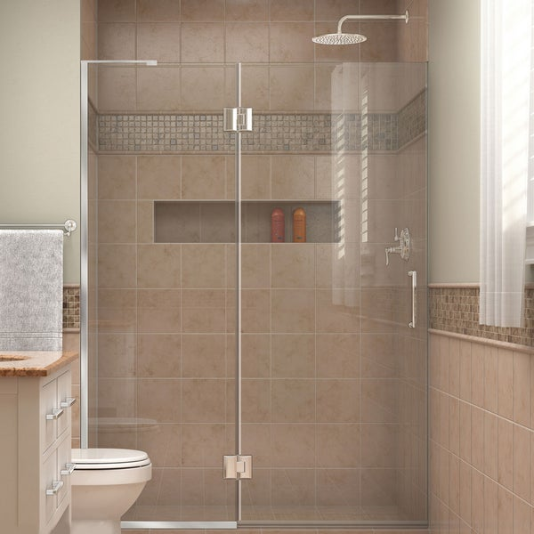 Shop DreamLine Unidoor-X 51 in. W x 72 in. H Hinged Shower Door ...