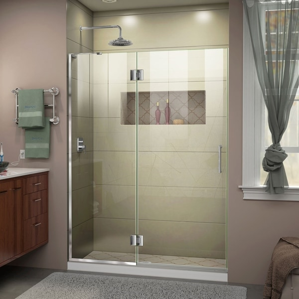 DreamLine Unidoor-X 52 in. W x 72 in. H Frameless Hinged Shower Door