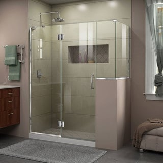 DreamLine Unidoor-X 59 in. W x 36.375 in. D x 72 in. H Hinged Shower Enclosure