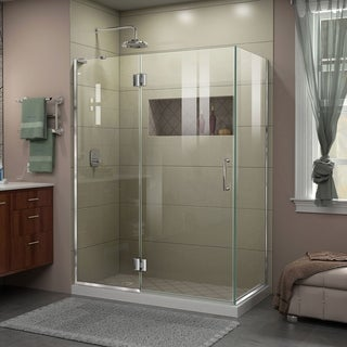 DreamLine Unidoor-X 47 3/8 in. W x 30 in. D x 72 in. H Frameless Hinged Shower Enclosure