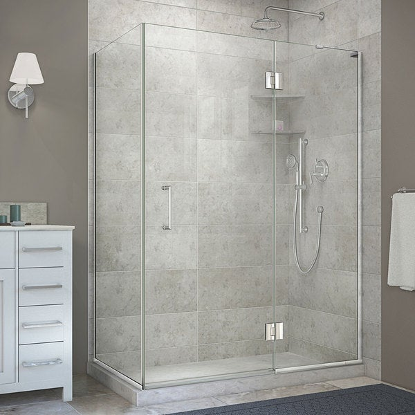DreamLine Unidoor X In W X 34 In D X 72 In H Hinged Shower Enclosur