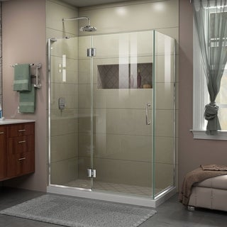 DreamLine Unidoor-X 48 3/8 in. W x 34 in. D x 72 in. H Frameless Hinged Shower Enclosure