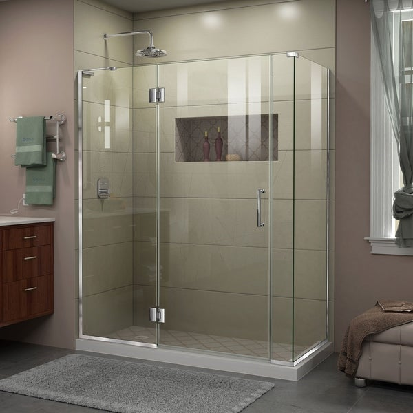 DreamLine Unidoor-X 60 in. W x 34 3/8 in. D x 72 in. H Frameless Hinged Shower Enclosure