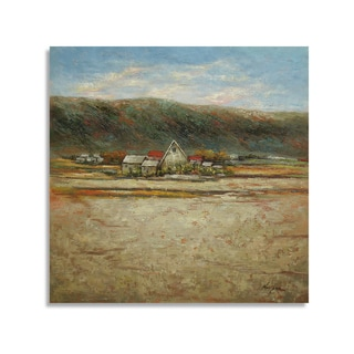 Beautiful Oil Painting of a Lanscape with Village Wall Art
