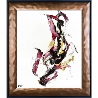 Kris Haas 'Abstract EXP Series 10113110409' Framed Fine Art Print