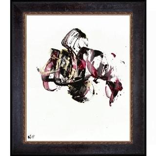 Kris Haas 'Abstract EXP Series 10112110409' Framed Fine Art Print