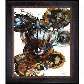 Kris Haas 'Sphere Series Painting 995042312' Framed Fine Art Print