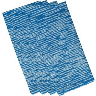 Marled Knit Geometric Print 19-inch Square Napkin (Set of 4)