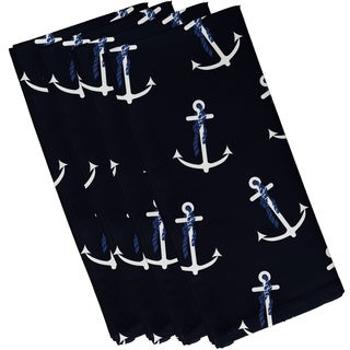 Anchor Whimsy Geometric Print 19-inch Square Napkin (Set of 4)