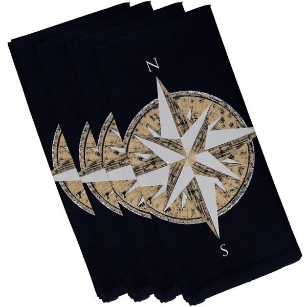 Compass Geometric Print 19-inch Square Napkin (Set of 4)