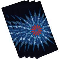 Sea Wheel Geometric Print 19-inch Square Napkin (Set of 4)