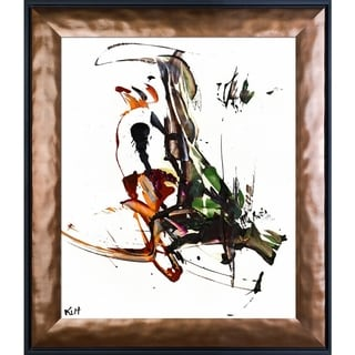 Kris Haas 'Abstract EXP Series 10185110709' Framed Fine Art Print