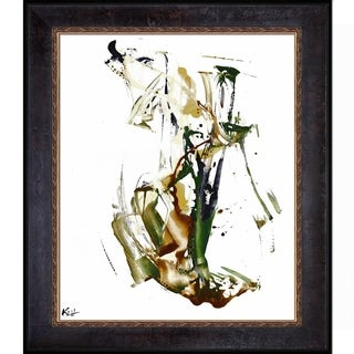 Kris Haas 'Abstract EXP Series 10178110709' Framed Fine Art Print