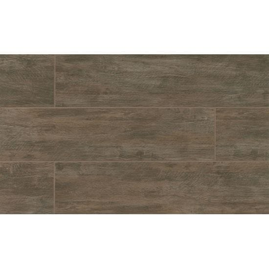 River Wood Walnut Look Porcelain Tile 8 Inch X 36
