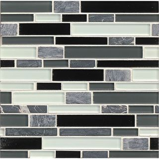 Tiffany Audrey Linear Glass Tiles (12-inch x 12-inch)