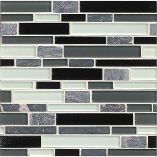 tiffany audrey linear glass tiles 12inch x 12inch