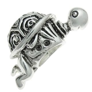 Queenberry Sterling Silver Animal Cute Sea Turtle European Bead Charm