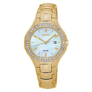 Seiko Crystal Dress Gold Women's Watch