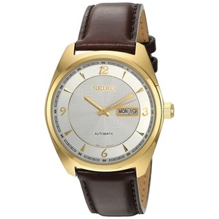 Seiko Men's SNKN70 Stainless Steel 21 Jewel Movement Automatic Gold Tone Watch with 50M Water Resistance