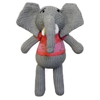 Hand-knitted 9-inch Elephant Toy (ZImbabwe)