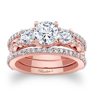 Barkev's Designer 14k Rose Gold 2 1/2ct TDW Diamond 3-piece Bridal Ring Set (More options available)