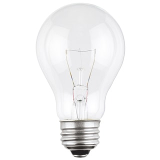Westinghouse 0398500 25 Watt A19 Clear Dimmable Incandescent Bulb 2-count