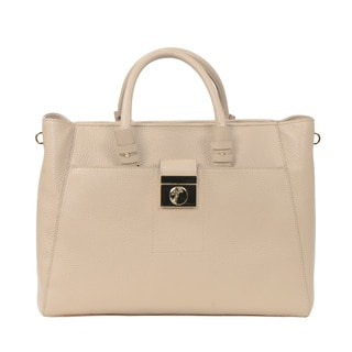 Versace Collection Grained Calfskin Tote Bag