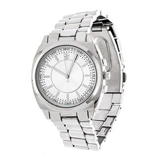 Fortune NYC Boyfriend Silver Case / Silver Strap Watch