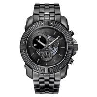 JBW Men's Black Ion-plated Stainless Steel Warren J6331C Multifunction Watch