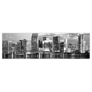 Miami City Digital Art Printed on Premium Gloss Poster