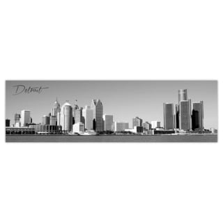 Detroit City Digital Art Printed on Premium Gloss Poster