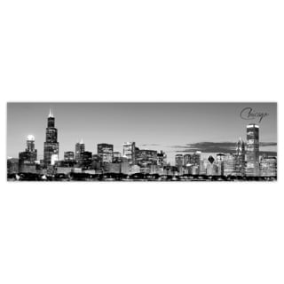 Chicago 2 City Digital Art Printed on Premium Gloss Poster