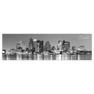 Boston City Digital Art Printed on Premium Gloss Poster
