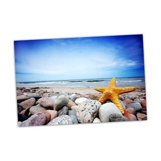 Starfish Beach Digital Art Printed on Premium Gloss Poster
