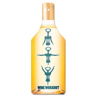 Glass Cutting Board Workout White Wine Bottle Shape