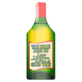 Wine Design Bottle Shape Glass Cutting Board